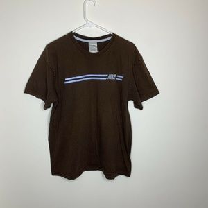 Nike Mens XL Brown and Blue Short Sleeve Shirt